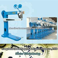 Hot sale corrugated carton box stapling machine/carton close staples