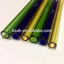 Colored Tempered 3.3 Borosilicate Pyrex glass tube