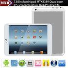 7.85 inch MTK8389 Quad Core 1.2GHz ultra slim tablet pc IPS Screen 1GB/8GB with 3G SIM Card Slot, GPS, BT, FM, HDMI
