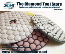 Quality diamond hand polishing pads dry For Angle Grinding