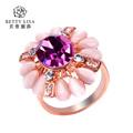 rei e rainha de noivado e casamento de rubi anel de ouro 18k anel de diamante