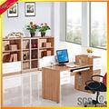 Elegância de canto moderno escritório computador de mesa de metal- computador de mesa mdf