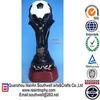 hot sale custom design resin world cup soccer trophy