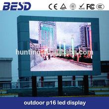 P16 led acrylic display led time temperature display rental led display
