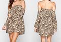 Nueva llegada de moda floral Off hombro de la señora vestidos