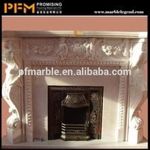 hot sale natural well polished COLONIAL & Sahara Diamond Stone graceful lines trimmed outside edges glorification fireplace