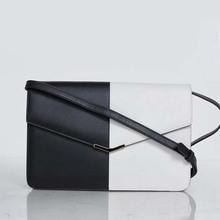 2014 White and Black Genuine Leather shoulder bag