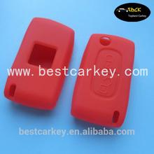 Colorful 2 buttons silicon cover for remote control Citroen remote key