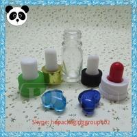 olive oil glass container clear black eye drop 10ml unique shape glass liquor bottle