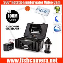 360 degree 100m underwater fishing camera monitor system