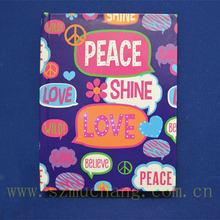 Korea lovely gift box fiber optic light diary