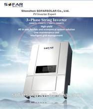 Dual MPPT solar panel inverter 17kW with CE,VDE,G83/59,SAA,AS4777,CQC,etc (SOFAR SOLAR)