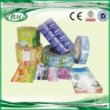 Plastic soft drink bottle label