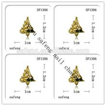 Golden tree wholesale christmas 3d nail art