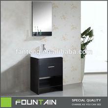 Vanity Dressing Table Mirror Free Standing Bathroom Vanity Unit Wooden Bathroom Cabinet Ceramic Sink