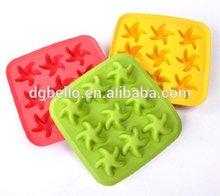 9 Cavities Windmill Starfish Shape Ice Chocolate Sugar Silicone Cube Tray