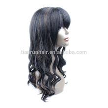 China xuchang tianrun company Top quality Human Hair half wig human hair