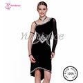 L-13119 noir personnalisé robe de danse latine
