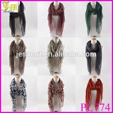 Fashion Design Women's Long Print Cotton Voile Scarf Wrap Ladies Shawl Scarves & Wrap