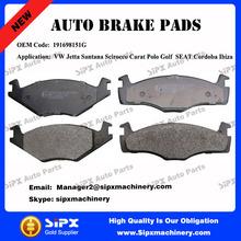 High quality 191698151G Car brake pads for VW Jetta Santana Scirocco Carat Polo Golf SEAT Cordoba Ibiza