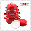 5 pcs infrared cookware with flower decal 2014