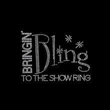 Bling bringin to the show ring rhinestone transfer embelishment motif design