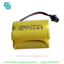 battery 6 volt nicd aa 1000mah/6v nicd battery pack