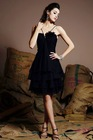2014 Latest Style Illusion A Line Knee Length Halter Chiffon Country Bridesmaid Dresses Cheap