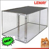 outdoor 7.5'x13'x6ft' galvanized chain link cage waterproof cover dog kennel