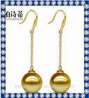 9-10mm AAA 14K gold pearl earring jewelry