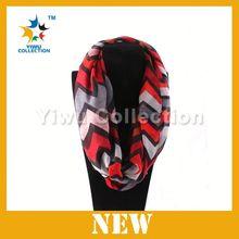 Factory selling Popular 100pcs MOQ 100 polyester chevron scarf