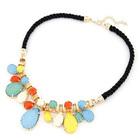 Fashion Colorful Gemstones Nepal Red White Stone Necklace