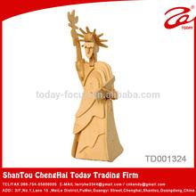 3D rompecabezas de madera estatua de la libertad de recuerdos