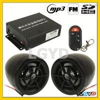 adjustable flexible alarm system motorcycle Digital MP3 with 3.0 inch Speaker, FM Radio & Remote Control
