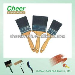 plastic paint brush covers/ paintbrush with wooden handle/2014exposicion nacioanl ferretera
