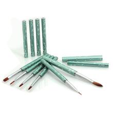 Hot sell able hair nail art brush set, nail polish applicator brush wide