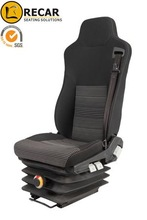 ISRI three point integrated belt high back mechanic suspension driver seats