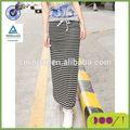 nuevo 2014 básico de la moda cordón del ajuste slim fit con falda trimlong a rayas faldas para las mujeres