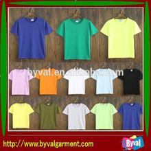 2014 Factory Wholesale Clothing Cheap Plain Promotion Cotton Man T-shirt