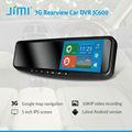 Jimi dalla più recente 3g smart specchietto retrovisore dvr dvd built- in GPS/bluetooth radio am/fm/tv