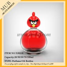 2014 Fancy cartoon figure perfume bottle , angry birds bottle wholesale