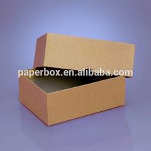 rigid solid paperboard color print kraft mailing box