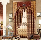 Fancy design bedroom curtain/fashion jacquard curtain valance