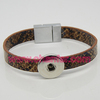 High quality snap button with PU leather bracelet ,magnetic clasp bracelet wholesale