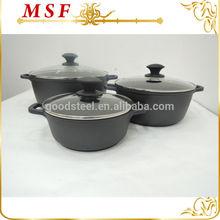 Elegant design 6pcs die cast aluminum ceramic coating with die cast handle & black bakelite knob MSF-6160