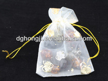 transparent organza drawstring herbs packaging velvet pouch