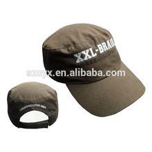 Long brim round crown men military cap