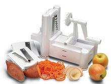 three-in-one fruit vegetable cutting machine vegetable spiral slicer cutter