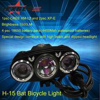 JEXREE 3*CREE front bike light 1500lm BAT bicycle light reviews