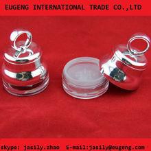small china round metalize makeup powder case